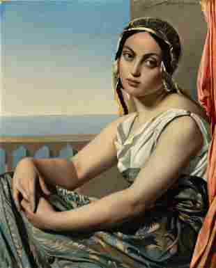 Henri Lehmann Kiel 1814 - Paris 1882 A girl Oil on