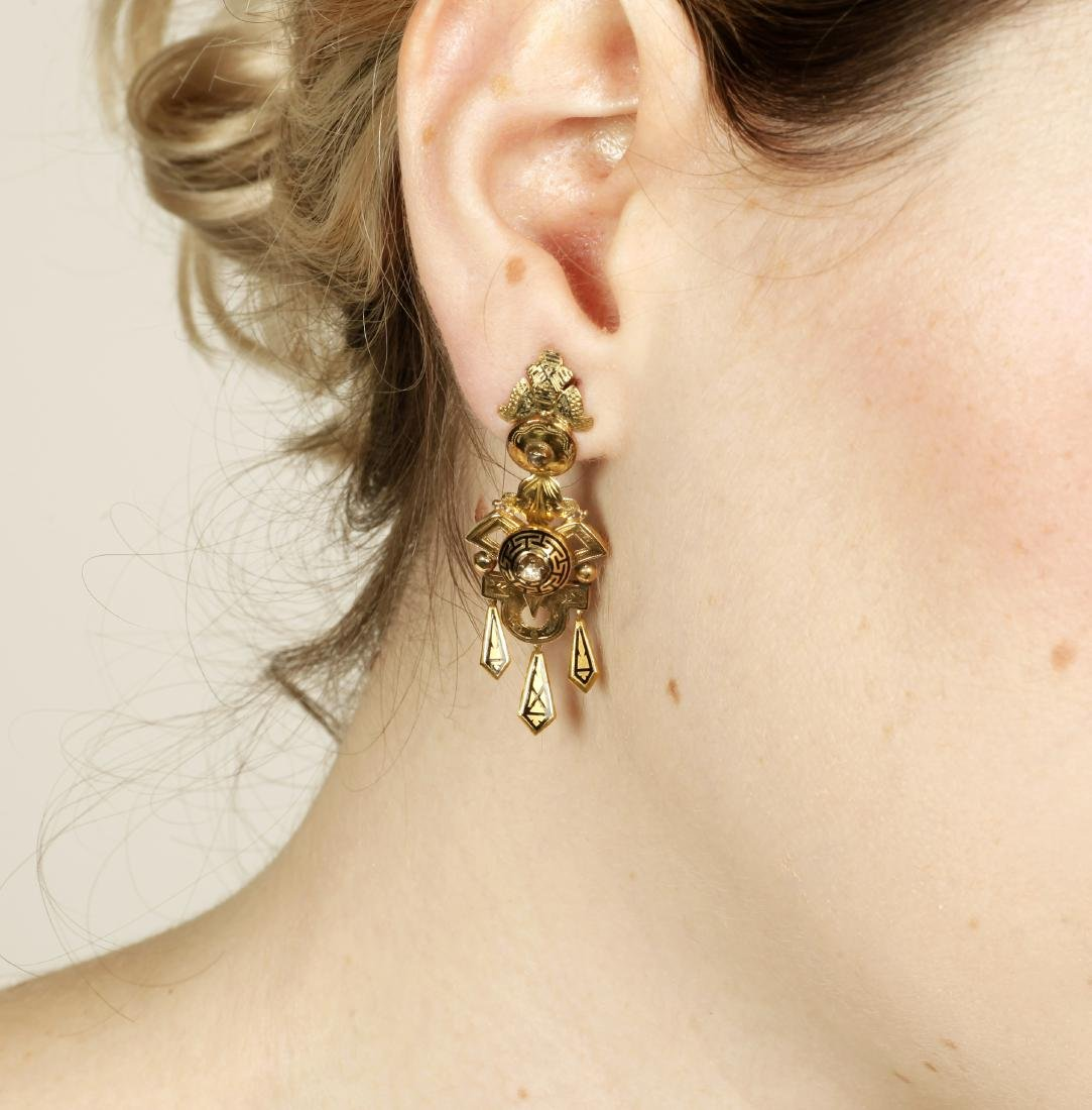 Alphonsine jewellery set in gold and enamel, 19th - 3