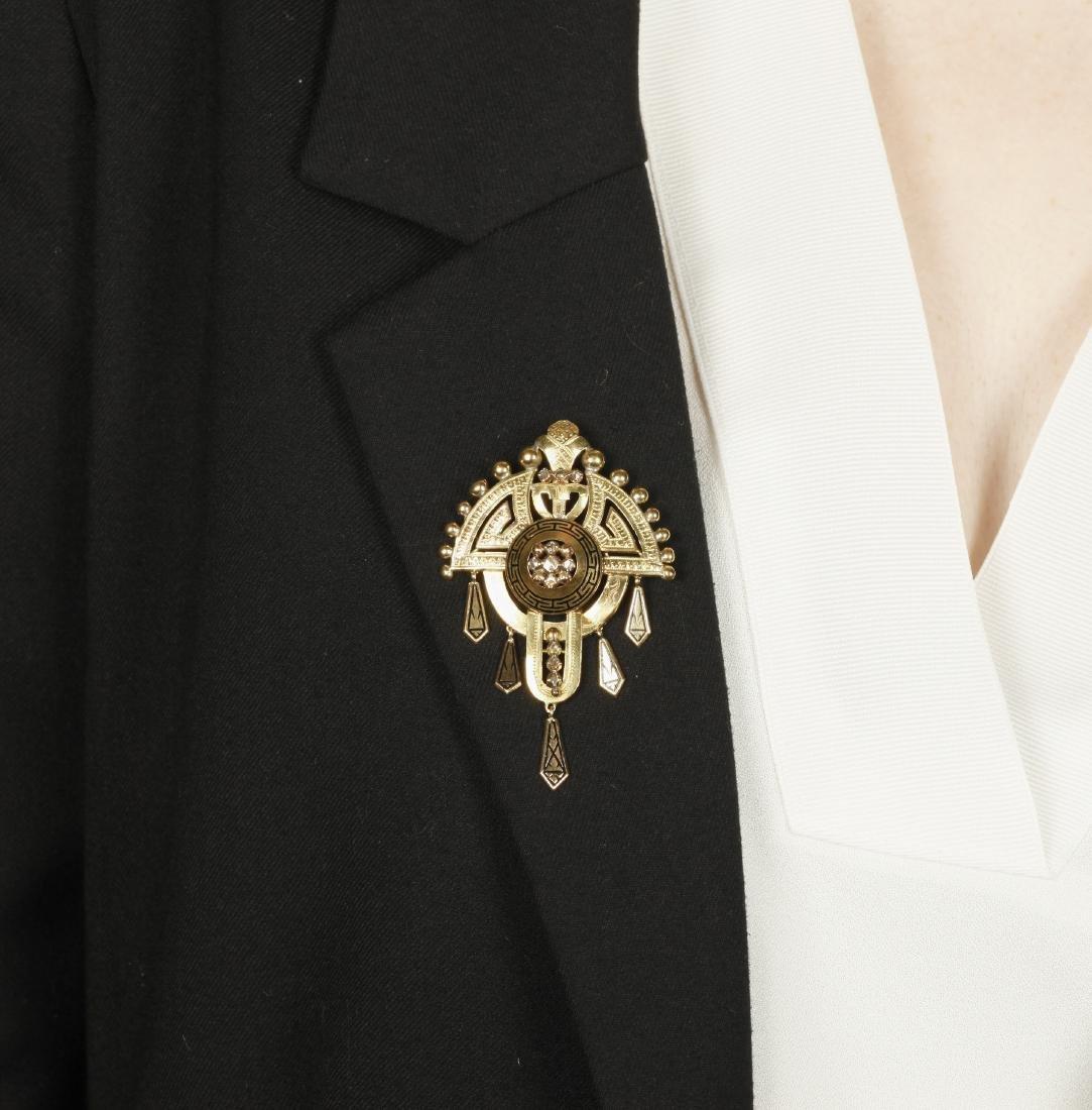 Alphonsine jewellery set in gold and enamel, 19th - 4