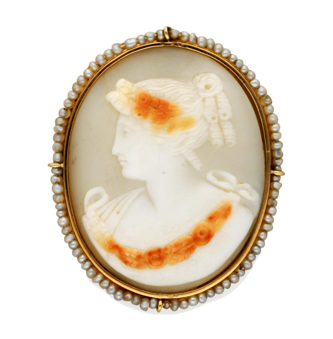 Brooch-pendant with cameo, 19th Century