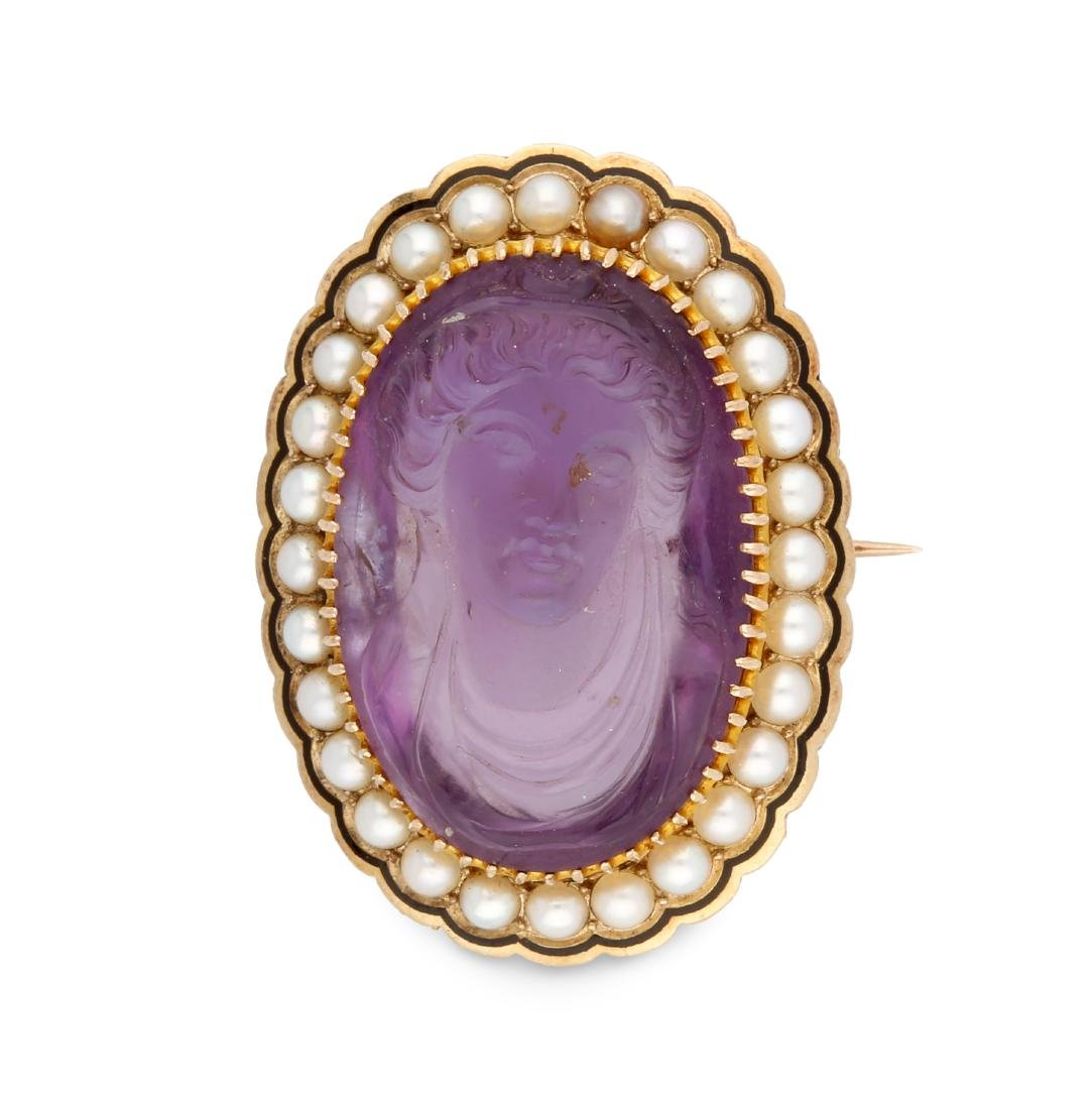 Brooch with cameo, 19th Century