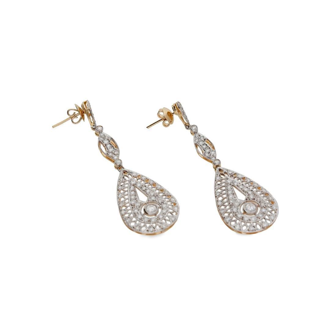 Belle Époque style long earrings
