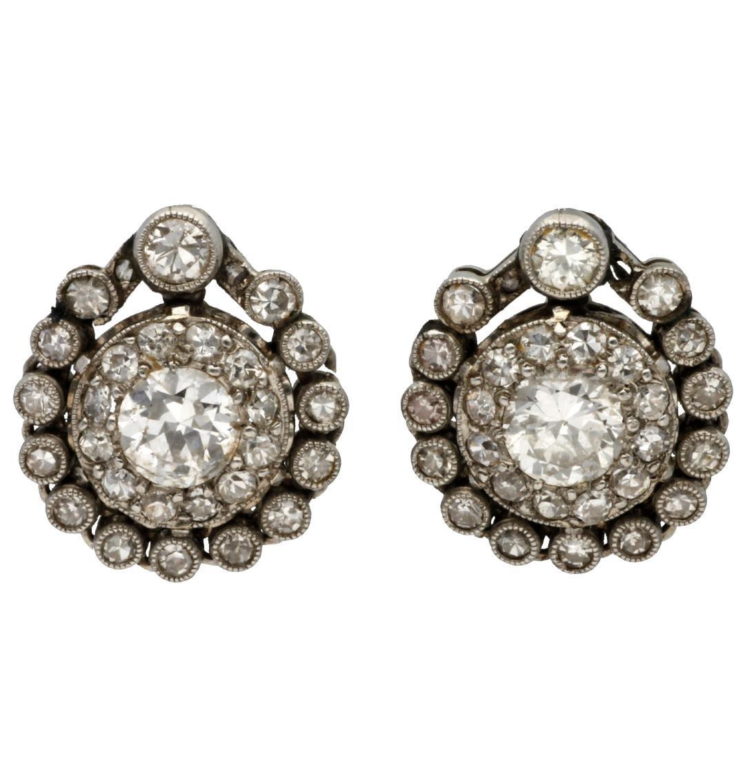 Belle Époque diamonds earrigns, circa 1910