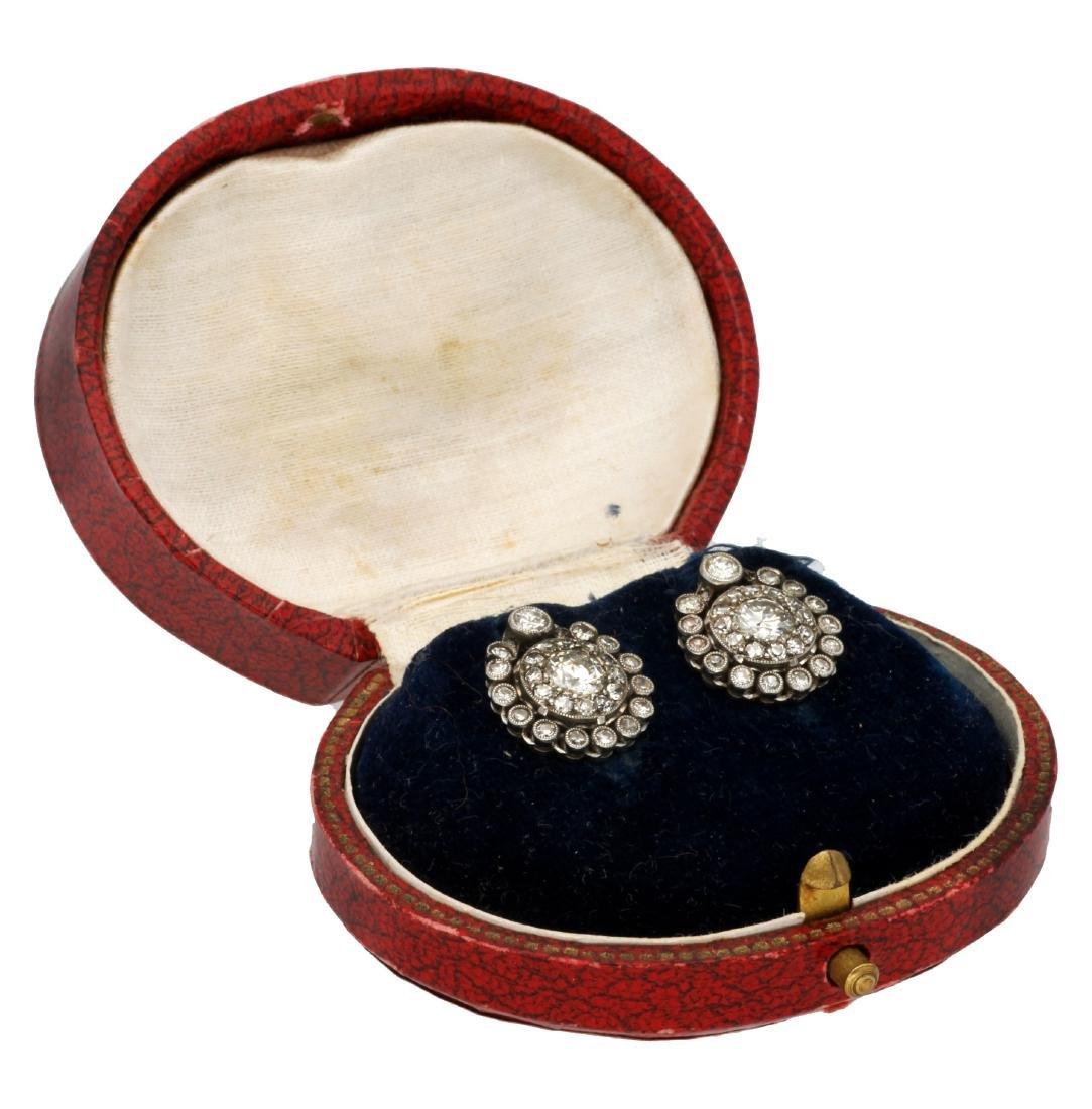 Belle Époque diamonds earrigns, circa 1910 - 2