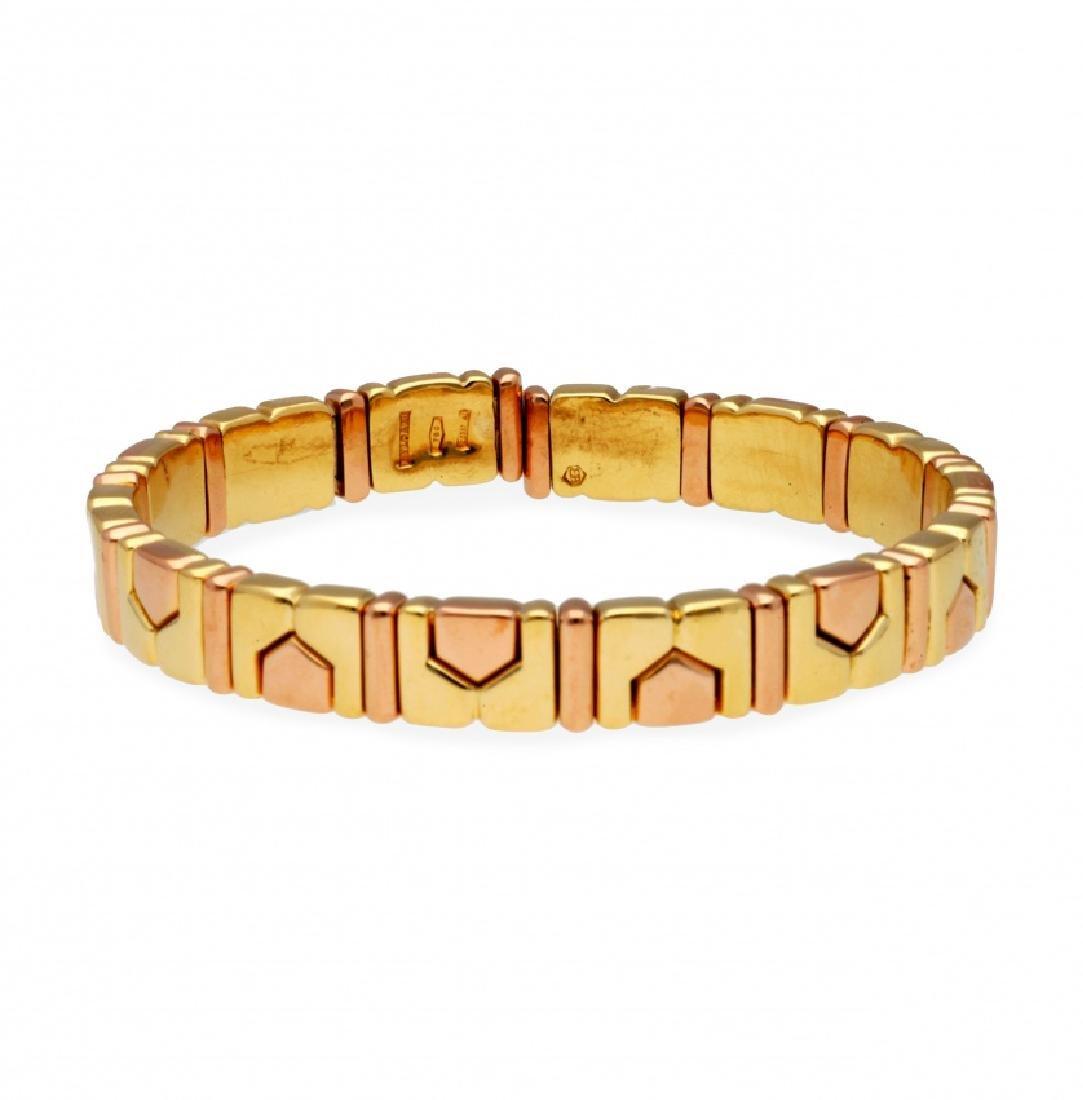 Bulgari, Gold and rose gold bracelet, circa 1980