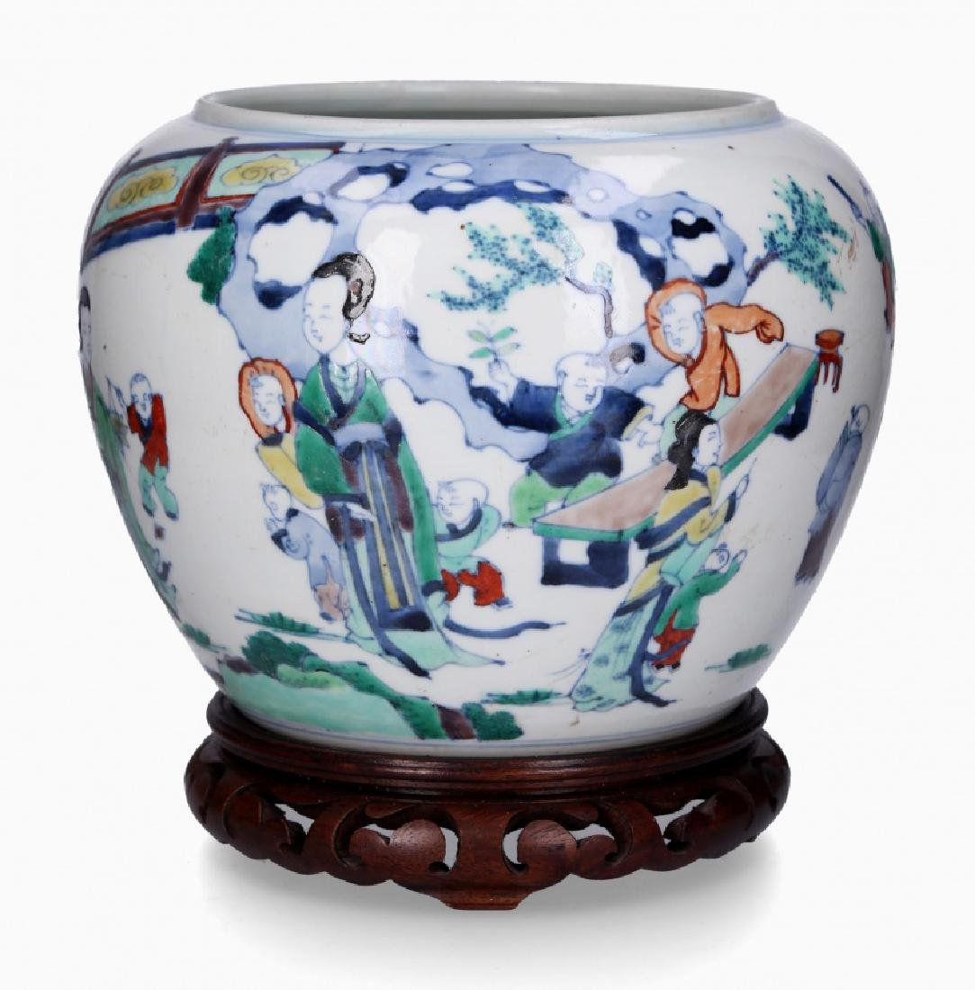 Chinese porcelain jardiniere, first third of the 20th
