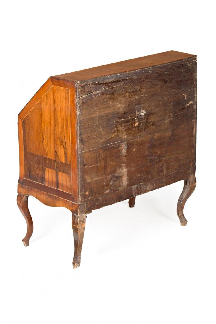 "Louis XV ""en penté"" bureau in rosewood, mahogany and - 5"