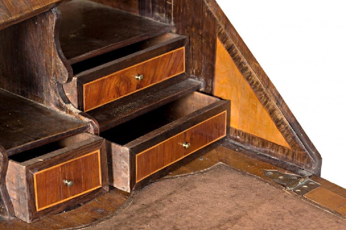 "Louis XV ""en penté"" bureau in rosewood, mahogany and - 6"