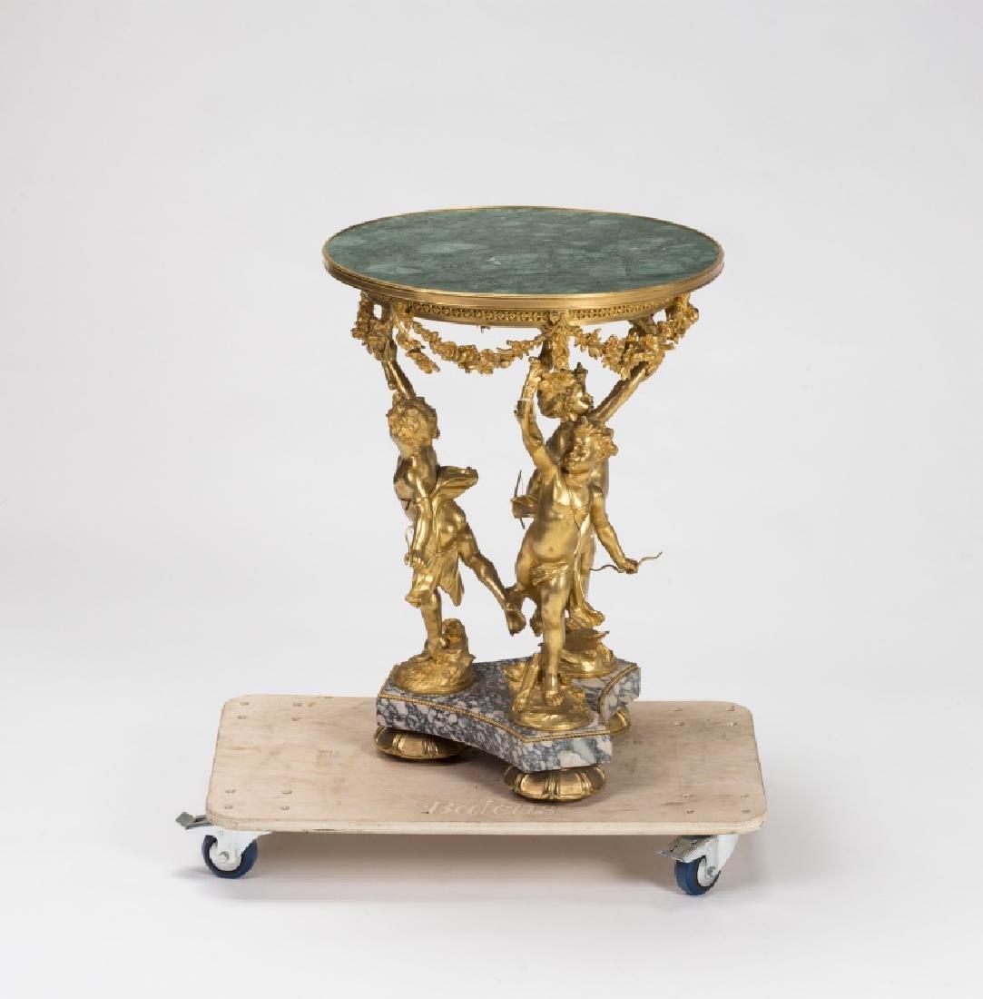 Jean Louis Gregoire, Table with children, Gilt bronze