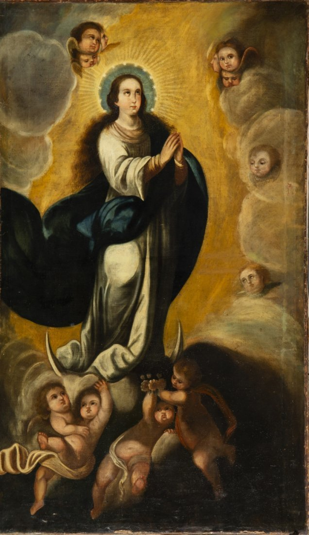 Pedro Carazo, Immaculate, Oil on canvas