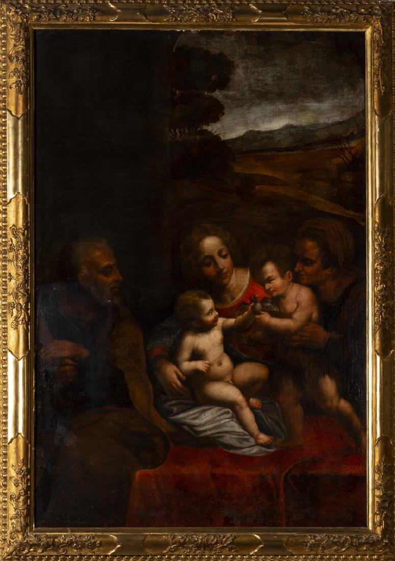 Italian school, 17th Century   , The Holy Family with