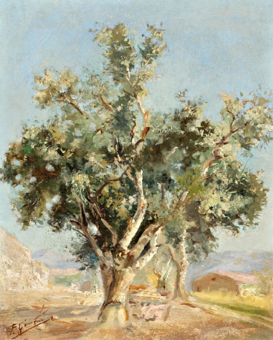 Francisco Gimeno, Landscape, Oil on canvas