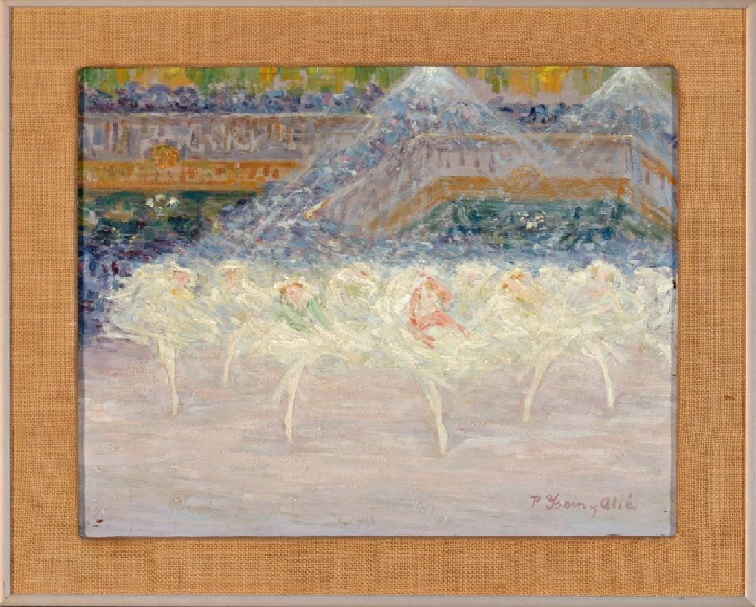 Pere Isern Alié, Dancers, Oil on wood