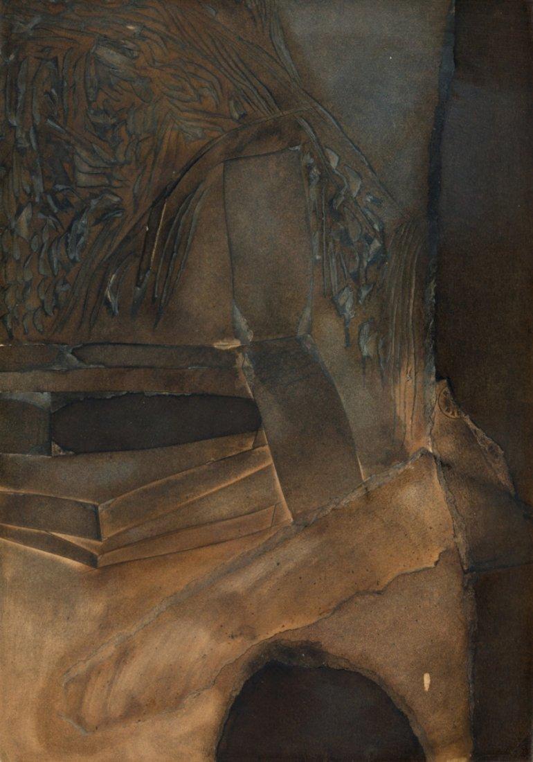 Josep Guinovart, Untitled, Collage on cardboard
