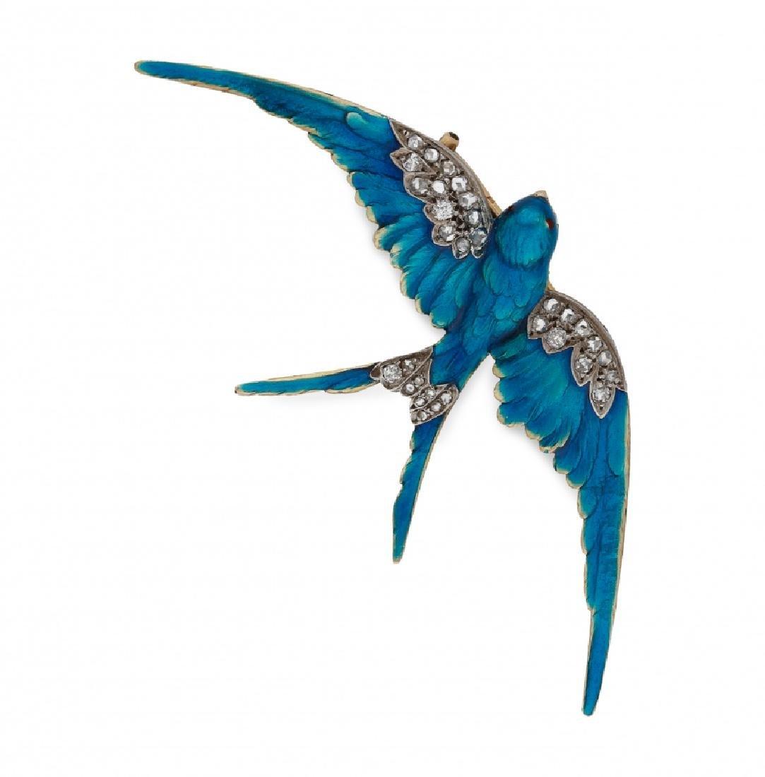 Swallow-shaped brooch