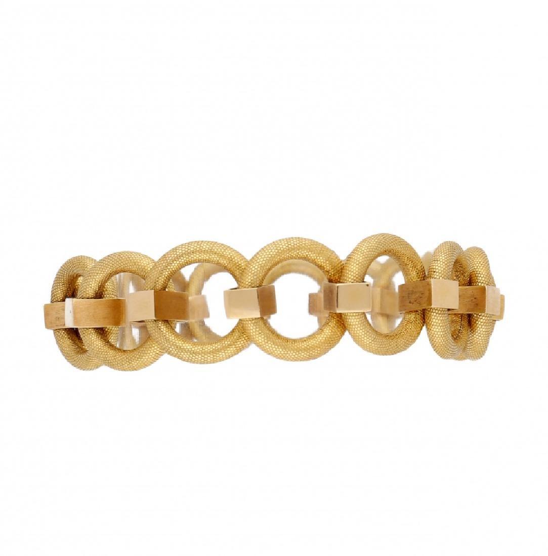 Gold links bracelet, mid 20th Century