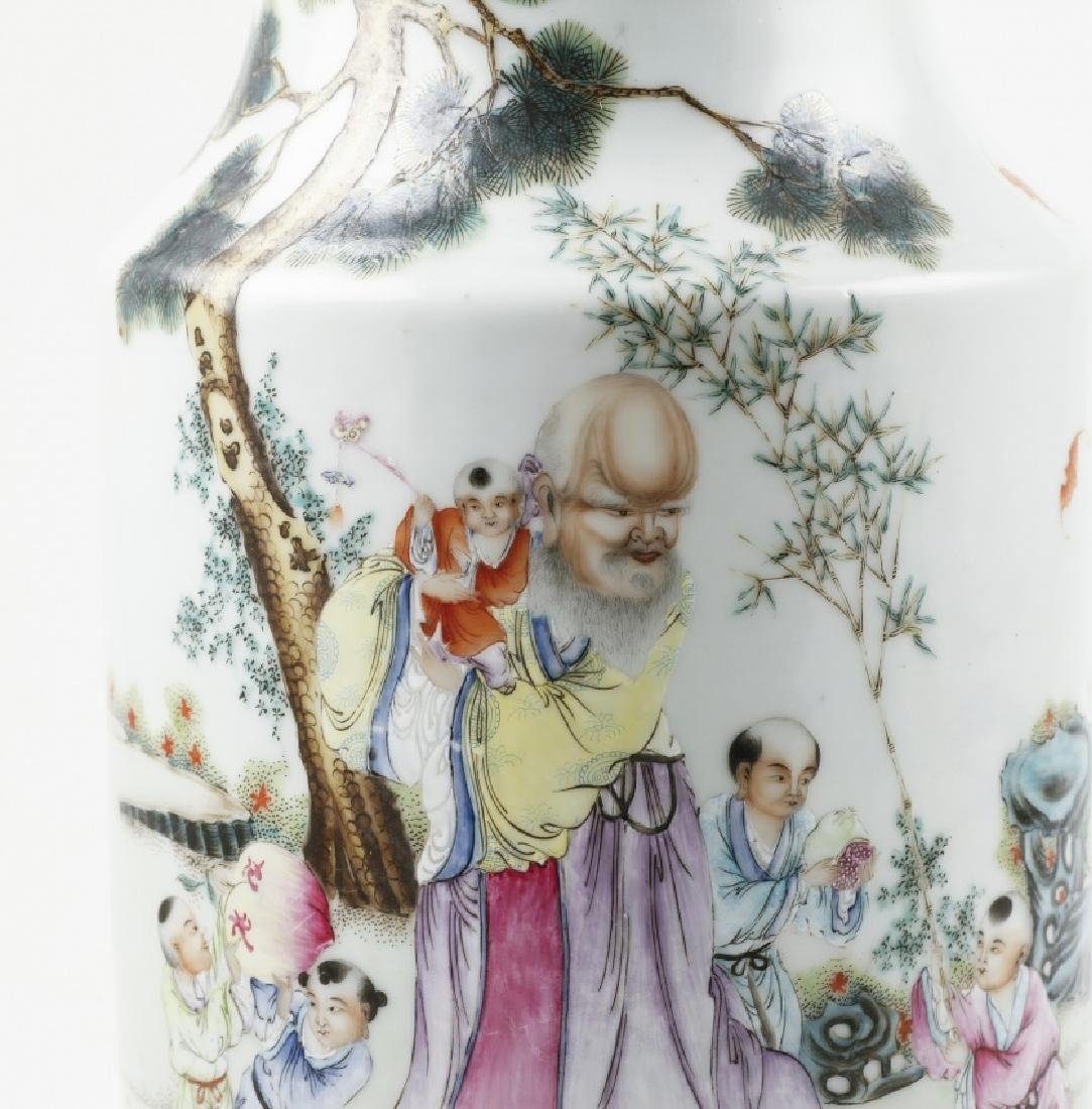 Pair of Chinese porcelain vases, late 19th Century - 4