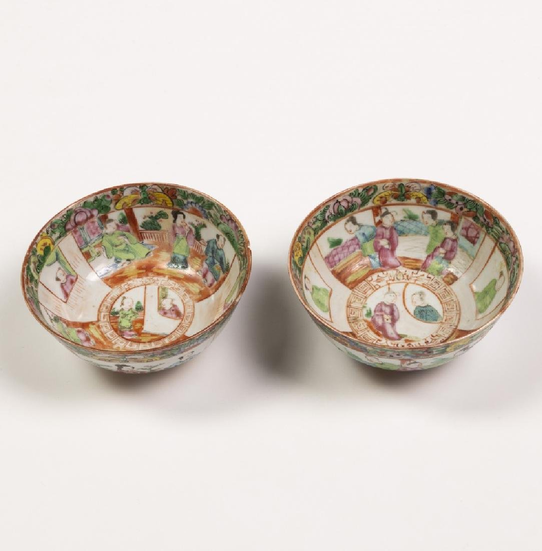 Chinese tableware items in Canton porcelain, 19th