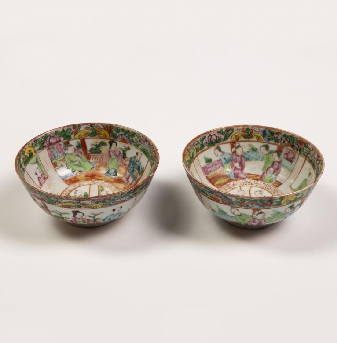Chinese tableware items in Canton porcelain, 19th - 2