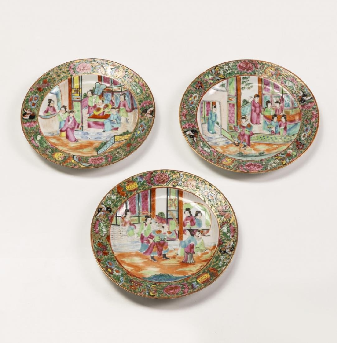 Chinese tableware items in Canton porcelain, 19th - 5