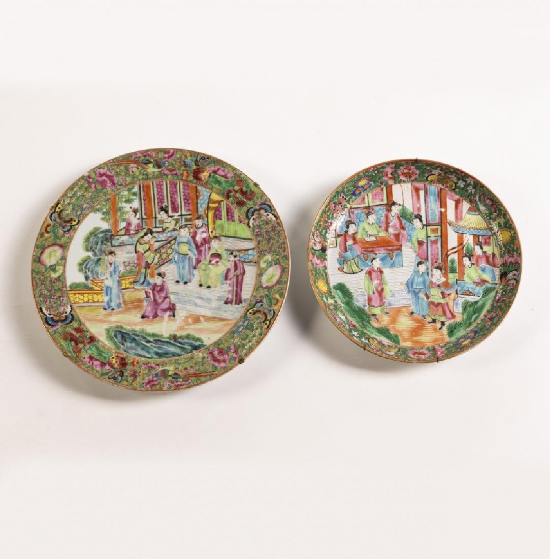 Chinese tableware items in Canton porcelain, 19th - 6