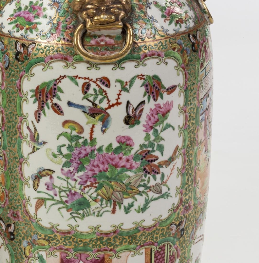 Pair of Chinese vase in Canton porcelain, late 19th - 2