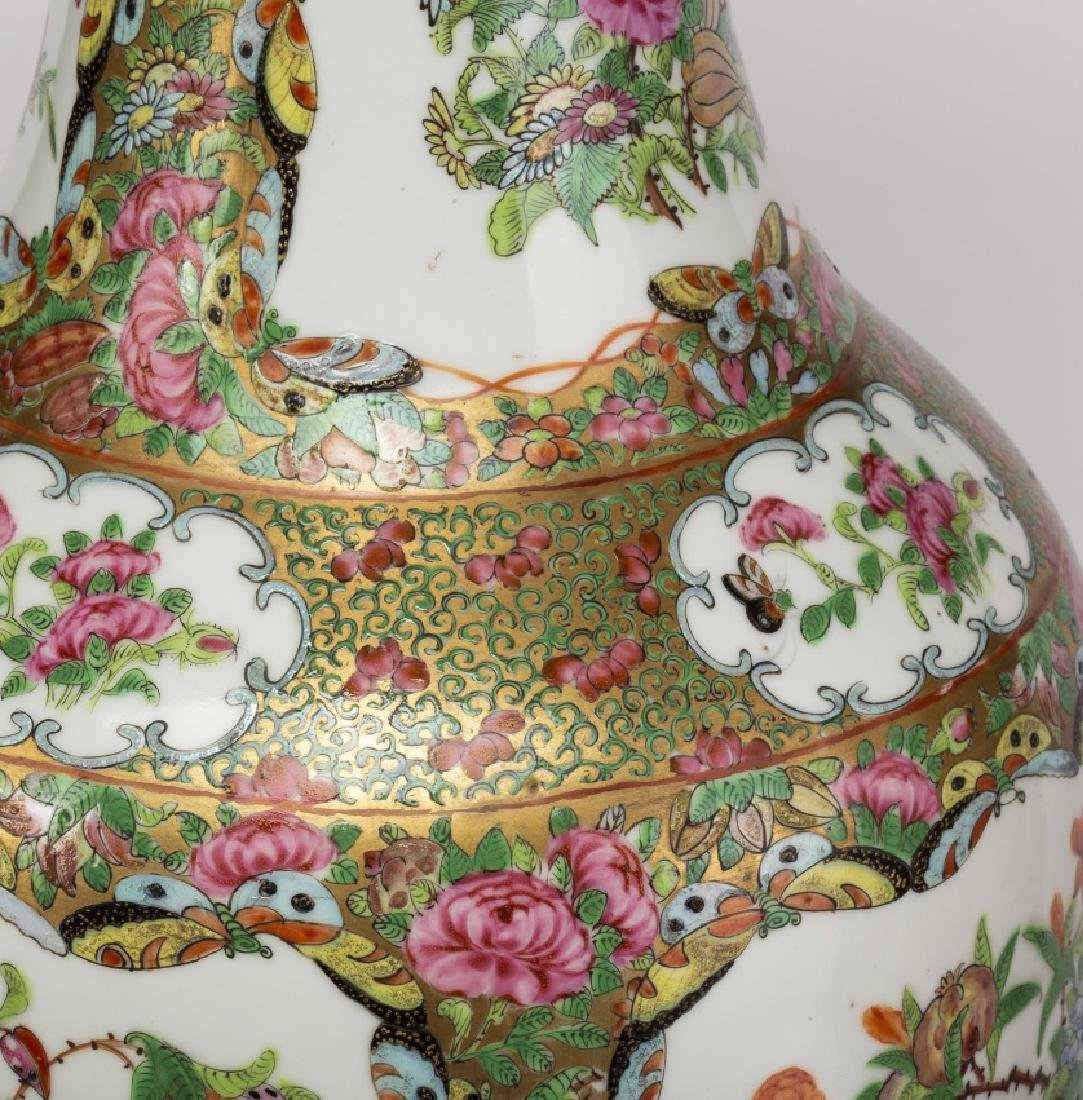 Pair of Chinese vases in Canton porcelain, late 19th - 2