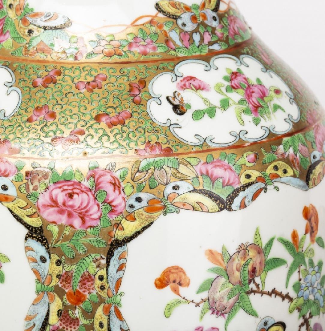 Pair of Chinese vases in Canton porcelain, late 19th - 6