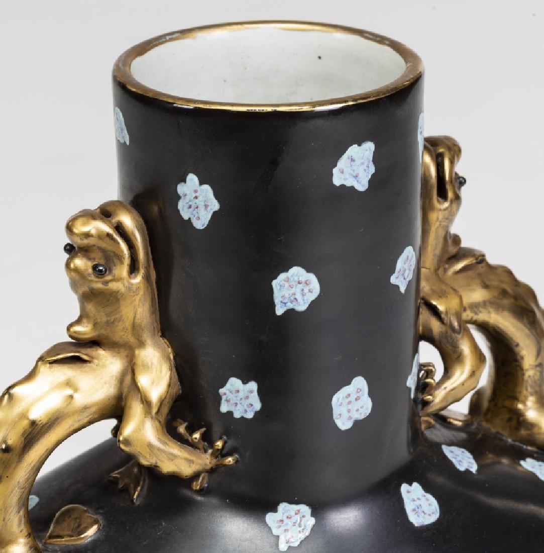 """""""Moonflask†vase in """"Famille-noire†porcelain, - 3"""