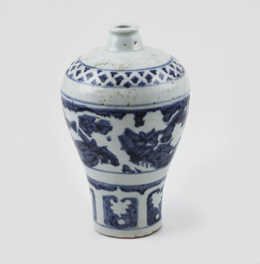"""Chinese """"Meiping"""" vase and jardiniere in porcelain, - 2"""
