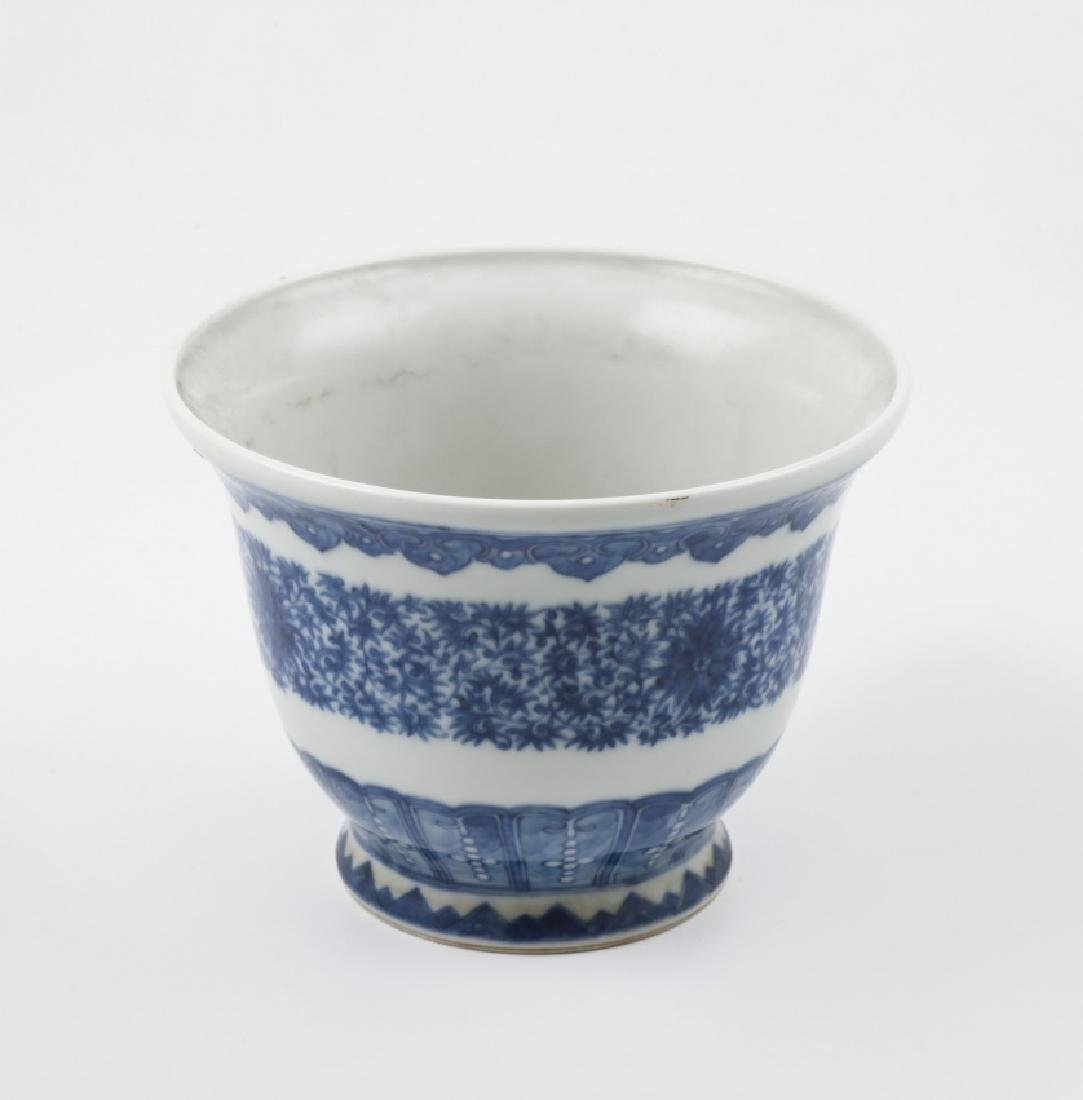"""Chinese """"Meiping"""" vase and jardiniere in porcelain, - 3"""