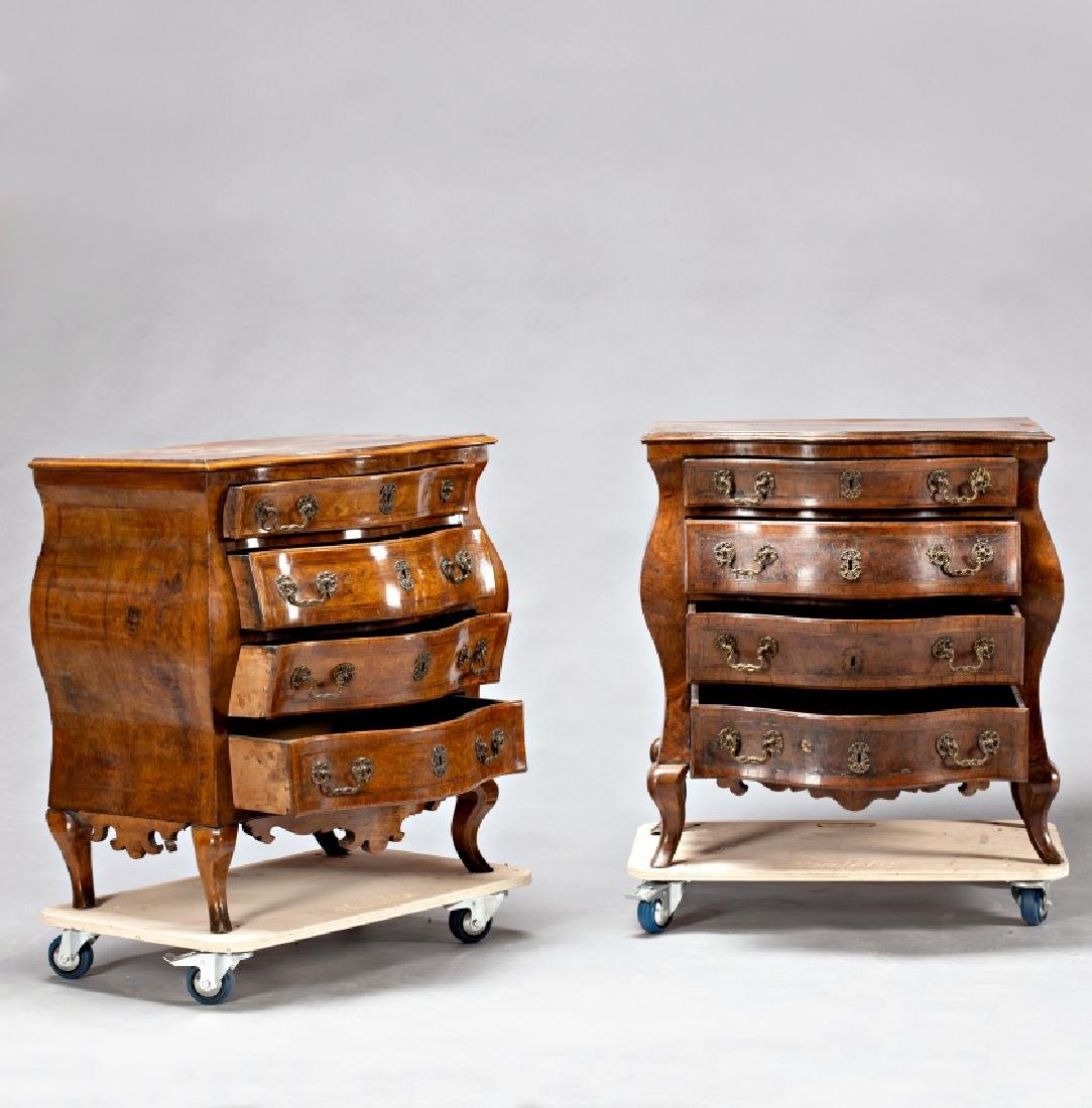 """Pair of Louis XV """"bombé†chest of drawers in"""