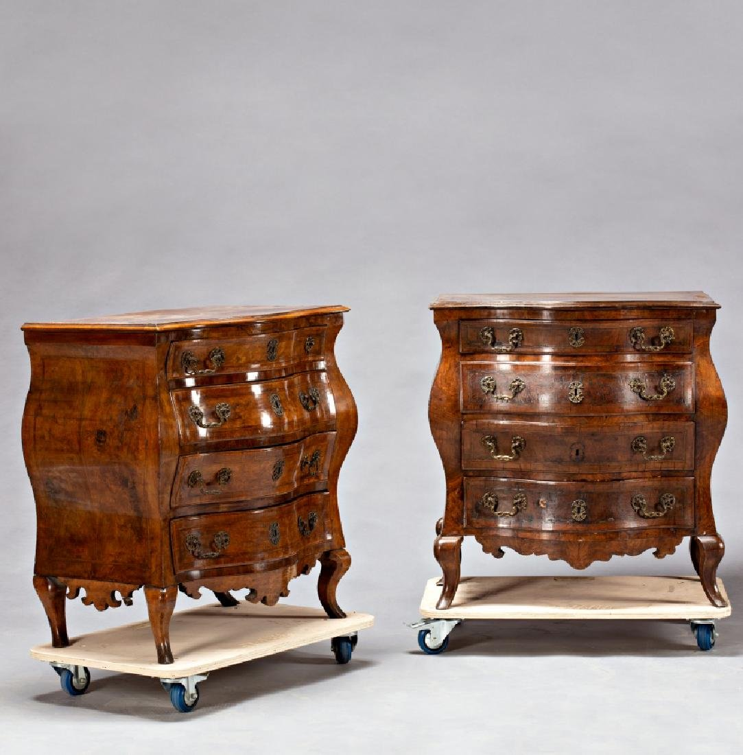 """Pair of Louis XV """"bombé†chest of drawers in - 5"""