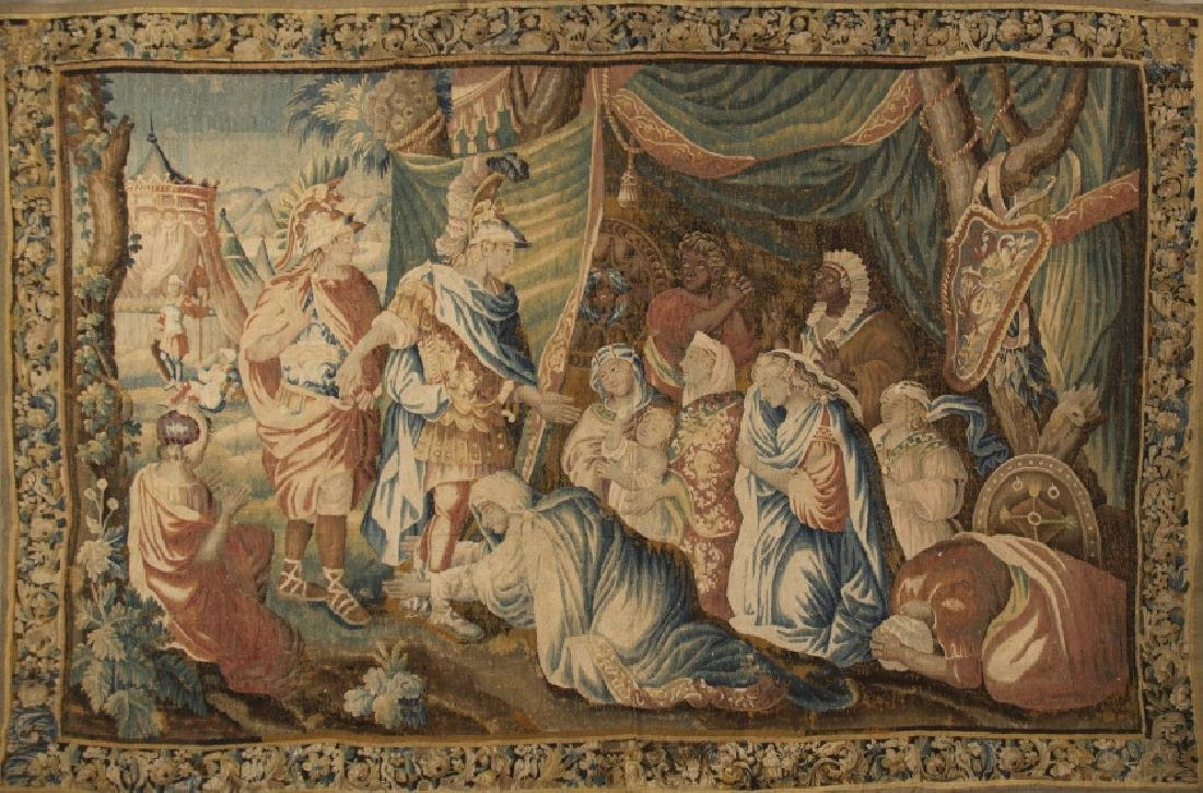 """Alexander the Great and Darius' family"", wool tapestry"