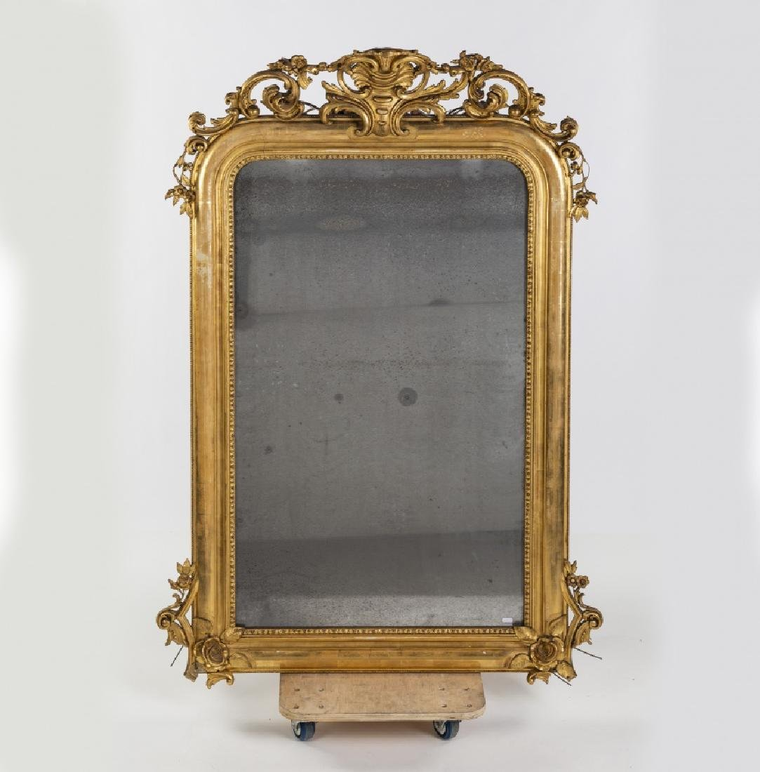 Elizabethan Louis XV-style console with mirror in