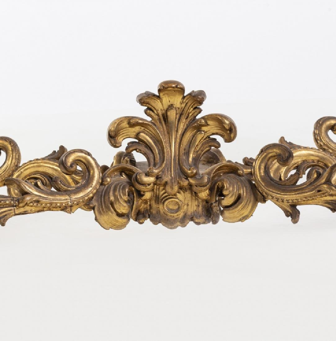 Elizabethan Louis XV-style console with mirror in - 4