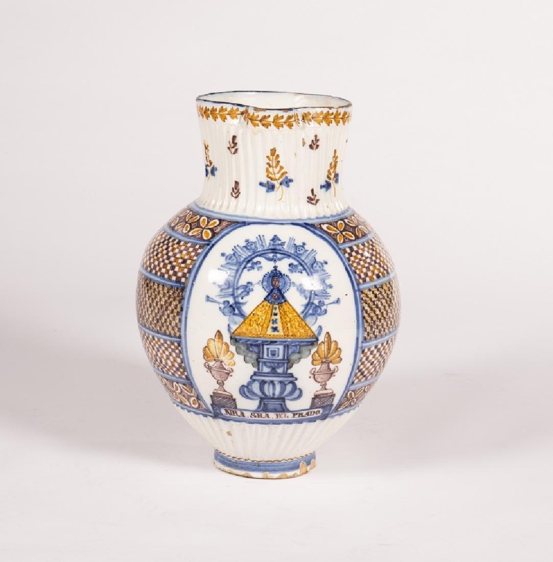Large jug in Talavera earthenware, 19th Century