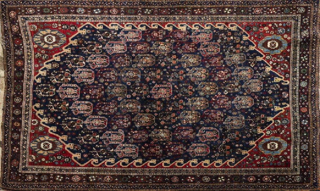 Three Oriental wool and silk carpets and one Oriental