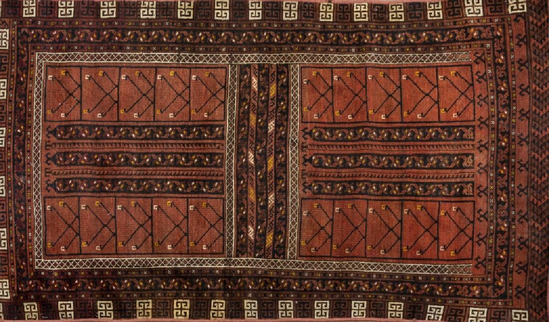 Three Oriental wool and silk carpets and one Oriental - 2