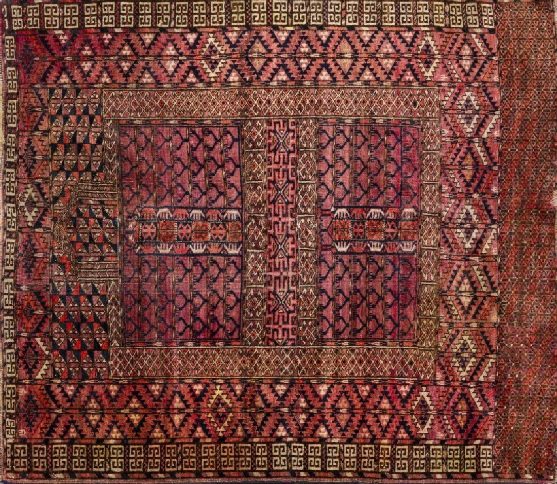 Three Oriental wool and silk carpets and one Oriental - 4