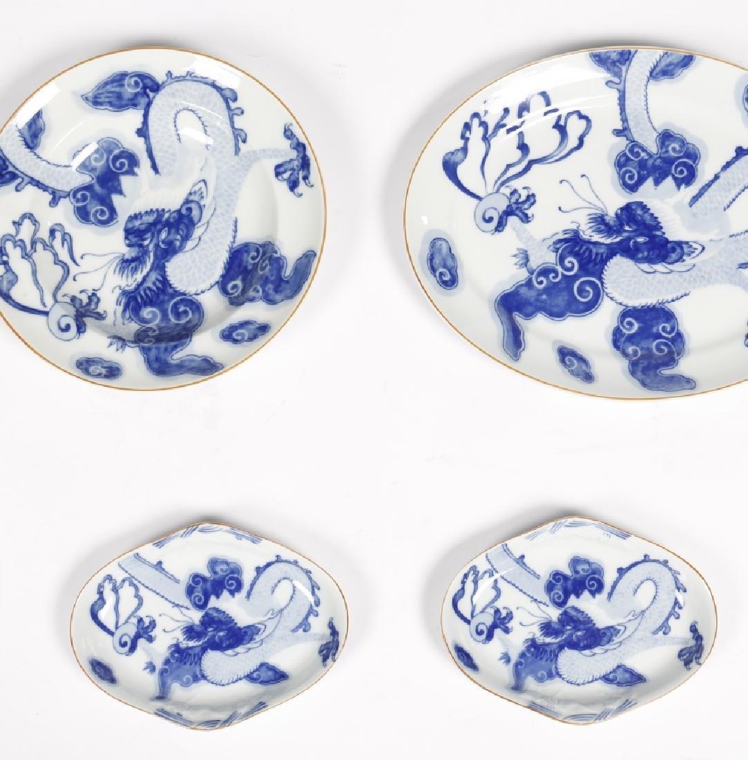 """Blue Dragon"" tableware of twelve services in Vista - 5"