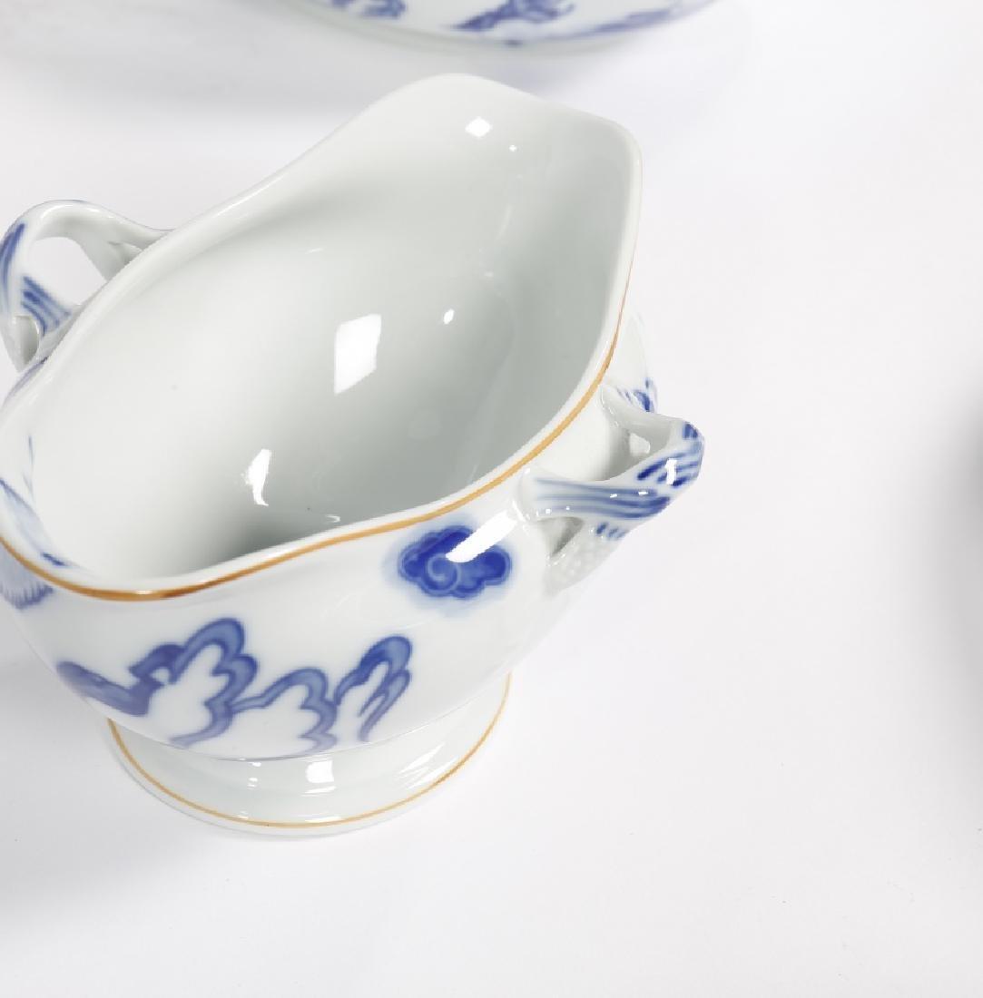 """Blue Dragon"" tableware of twelve services in Vista - 7"