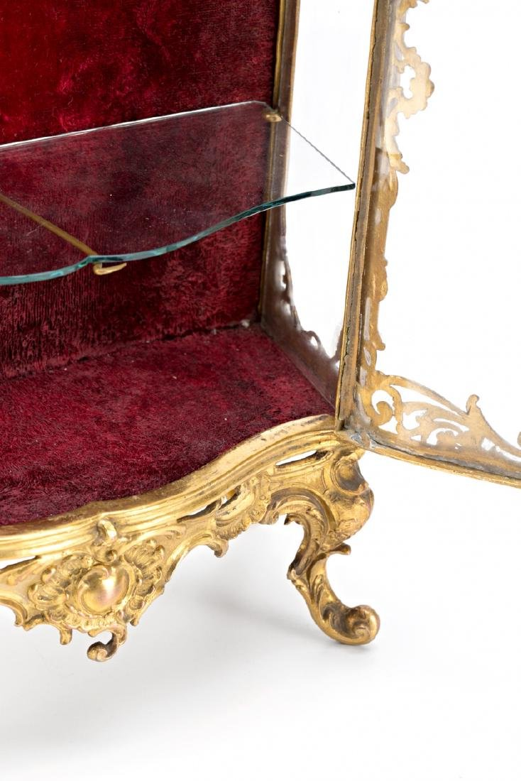 French miniature display cabinet of Rococo sytle in - 4