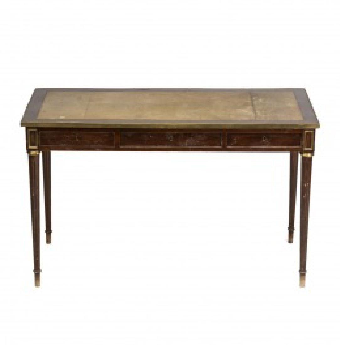 """Louis XVI-style """"bureau plat†table in mahogany"""