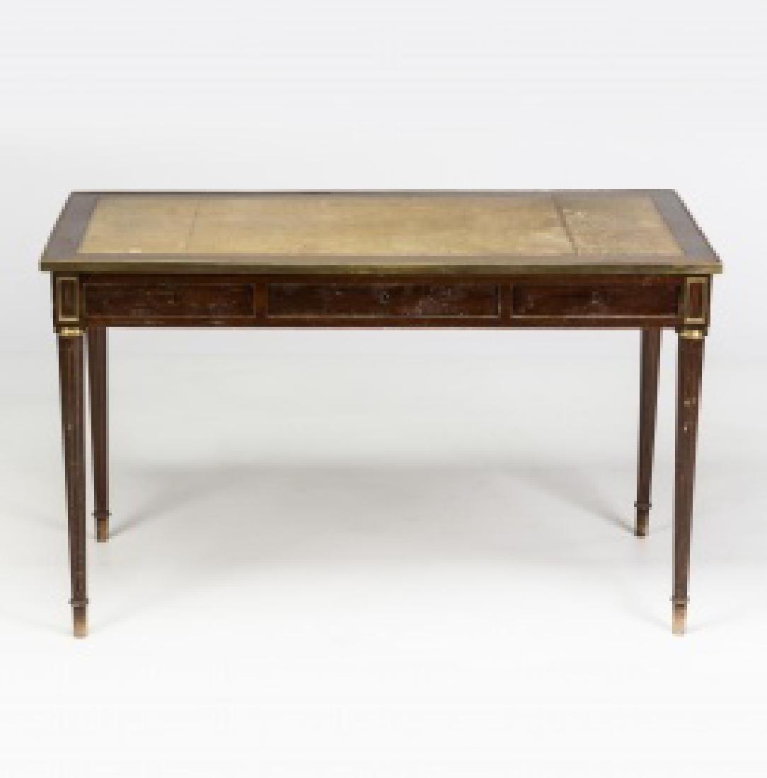 """Louis XVI-style """"bureau plat†table in mahogany - 2"""