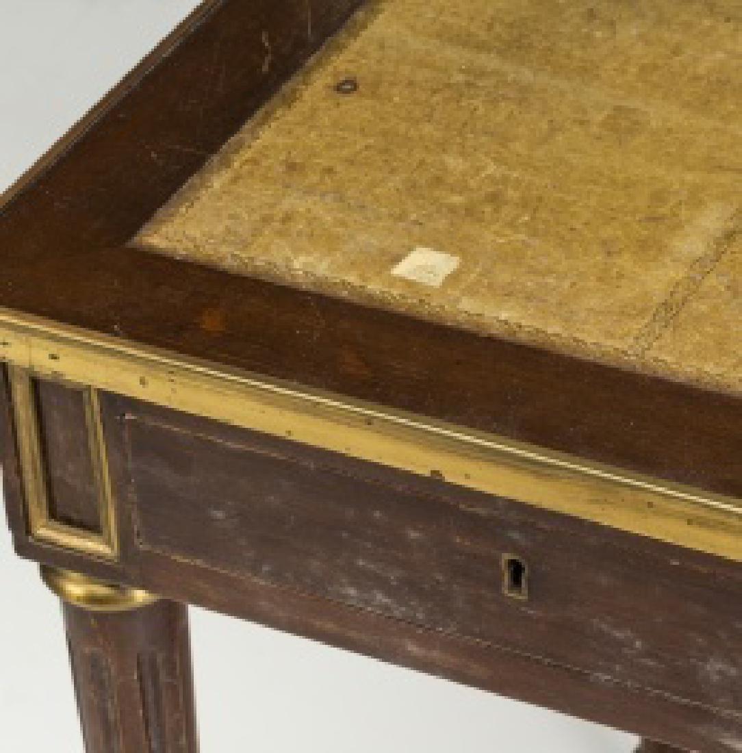 """Louis XVI-style """"bureau plat†table in mahogany - 3"""