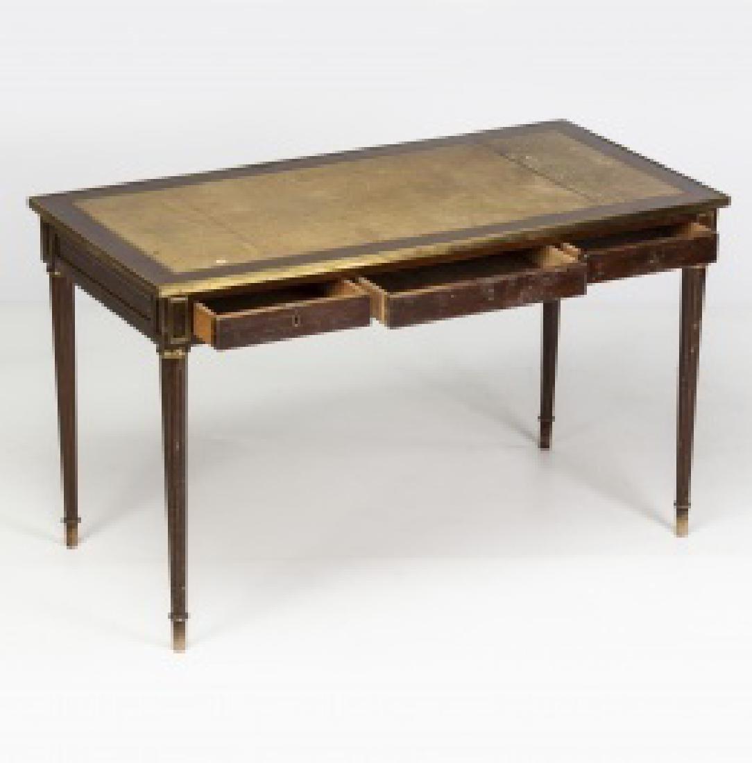 """Louis XVI-style """"bureau plat†table in mahogany - 4"""