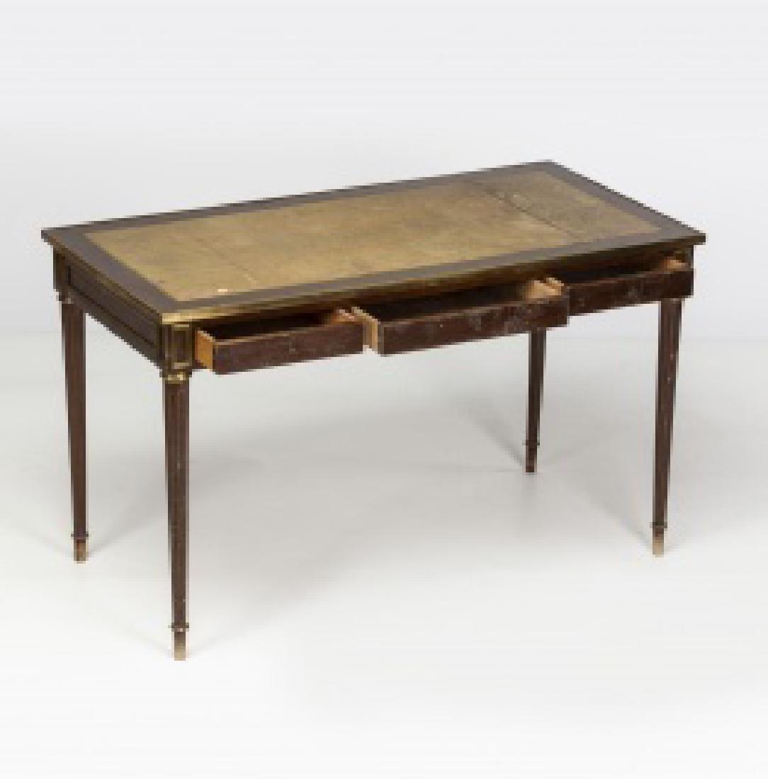 """Louis XVI-style """"bureau plat†table in mahogany - 5"""