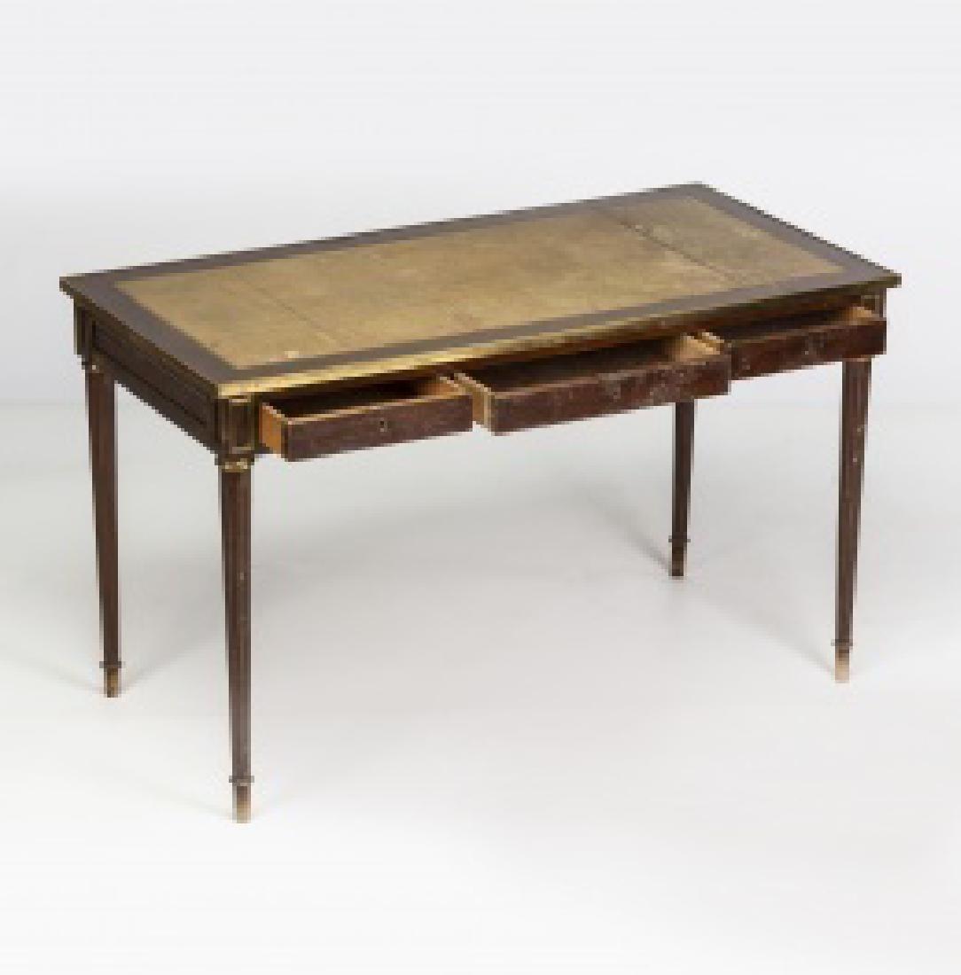 """Louis XVI-style """"bureau plat†table in mahogany - 6"""