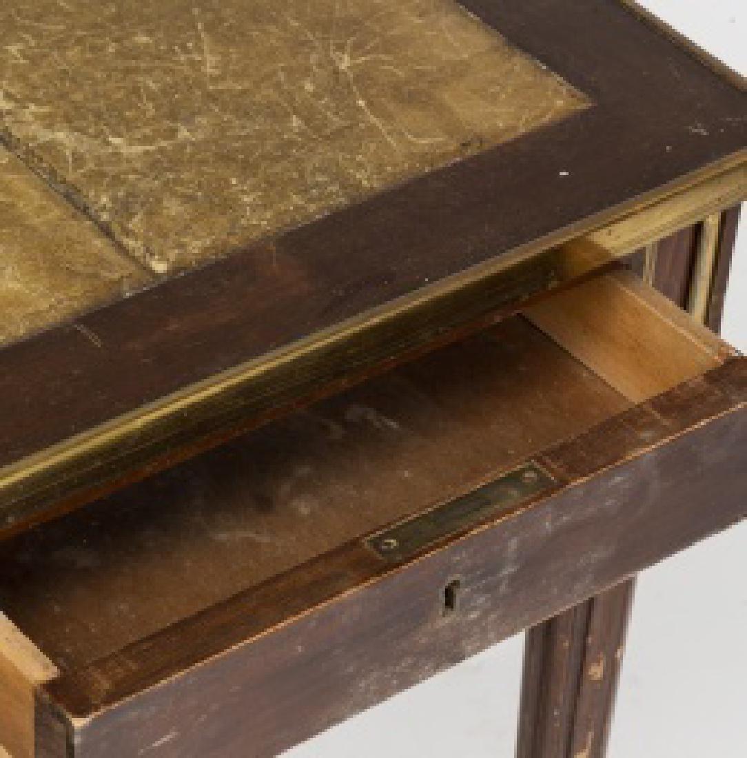 """Louis XVI-style """"bureau plat†table in mahogany - 7"""